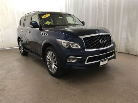 Certified Pre-Owned 2017 INFINITI QX80 4WD w/ Drivers Assist & DVDs